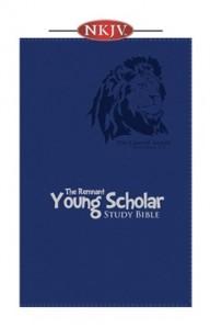 Young Scholar Study Bible (NKJV) Blue Leathersoft