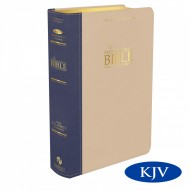 New Platinum Remnant Study KJV Bible BLUE/TAUPE Top Grain Leather
