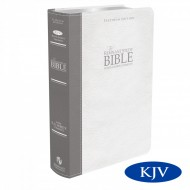 New Platinum Remnant Study KJV Bible GREY/WHITE Top Grain Leather