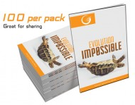 """Evolution, Impossible"" GLOW Tracts (100 per Pack)"