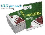 """Sunday is for Football, Saturday is for? GLOW Tracts (100 per Packt)"