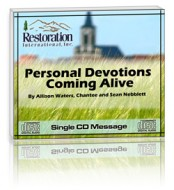 Personal Devotions Coming Alive (1 CD)
