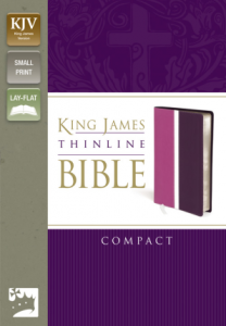King James Thinline Bible - Compact - Dark Orchid/Deep Plum