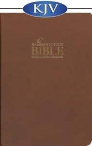 Remnant Study Bible (KJV) Genuine BROWN Top Grain Leather