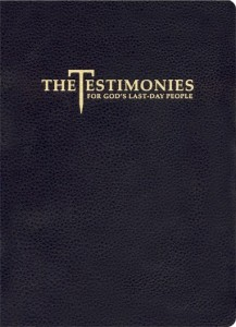 Testimonies for the Church Ellen G. White -  Black Leather cover with Zip